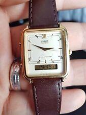 Reloj Analógico Vintage Seiko Hora Dual & Digital Chonograph Japón