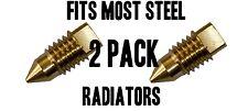 Radiator BLEED SCREW AIR / VALVE VENT - BRASS 2 PACK