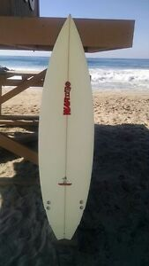 "Warner Surfboards WB006-US017: 6'2"" Short Board Hand Shaped In Australia"