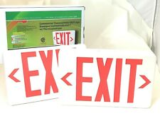 Aimlite EXPTUMWHT-BAT Commercial Thermoplastic EXIT Sign 120/347V Battery Backup