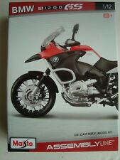 NEW MAI39051 Maisto  Moto En Kit PREPEINT  1/12 BMW R 1200 GS