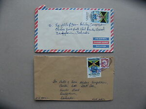 JAMAICA, 2x cover to Barbados, girl guides scouting