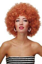 Peluca Rizado Afro década de los 70 AÑOS Party FUNKY DISCO Foxy Cobre Rojo