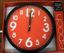 """EPOCH  12"""" WALL CLOCK- RED DIAL"""