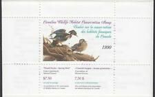 Canada Wildlife Conservation Duck stamp booklet #FWH6 MNH 1990 cv $20