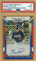 2019 Panini Prizm Draft BOBBY WITT JR AUTO Red White Blue #/99 PSA 9 MINT