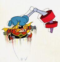 Sonic the Hedgehog Original Painted Animation Cel & Sketch of Dr. Ivo Robotnik