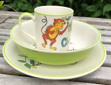 Cheeky Monkey Whittard Of Chelsea Hand Painted Breakfast Set Plate Bowl Mug Cup