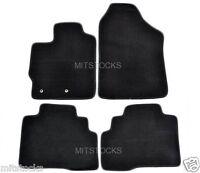 FIT FOR 2007-2012 TOYOTA YARIS Sedan 4 Doors ONLY BLACK NYLON CARPET FLOOR MATS