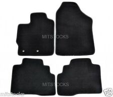 FIT FOR 2007-2012 TOYOTA YARIS Sedan 4 Doors ONLY BLACK NYLON CARPET FLOOR MATS
