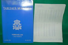 catalogue vente enchères VERSAILLES Tableaux modernes + liste prix de vente (21)