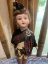 Vintage 8� Marked W & S With Crown On Top. Germany Bisque Scottish Boy With Pin
