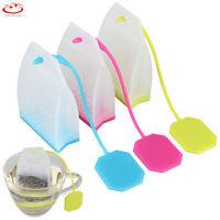 Bag Shape Silicone Loose Tea Leaf Strainer Filter Herbal Spice Infuser Diffuser