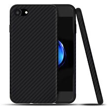 "iPhone 8 & 7 4.7"" Luxury Carbon Fiber Soft Quality Ultra Slim Case Cover - Black"