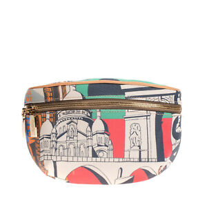RRP €175 BAGGHY PVC Crossbody Bag Printed & Textured Zipped Made in Italy