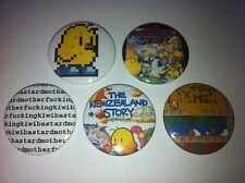 5 The New Zealand Story button pin badges 25mm Amiga 500 Taito Ocean Software