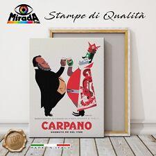 QUADRO Vermouth RE CARPANO CAVOUR brindisi storico vintage STAMPA TELA CANVAS