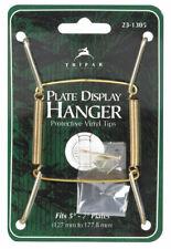 Tripar  5 in. to 7 in.  Brass  Plate Hanger  1 pk