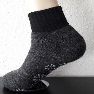 Ladies ABS Slipper Socks Stopper Socks with Wool And Alpaca Wool Grey 35 To 42