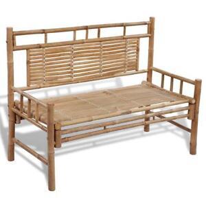 Bamboo Outdoor Garden Decor Patio Deck Balcony Park Bench Chair Seat Furniture
