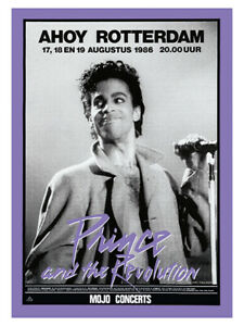 Eighties - Prince And The Revolution - Rotterdam Concert Poster reprint (1986)