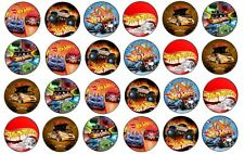 48 x 3cm Hot Wheels Cup Cake Toppers Edible Rice Wafer Paper