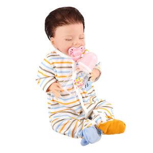"20"" Newborn Baby Soft Full Body Silicone Reborn Dolls New Year Birthday Gift"