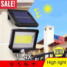 100LED Energía Solar Sensor De Movimiento Infrarrojo Pasivo Seguridad Para Exteriores Jardín Luz Lámparas de inundación