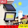 100LED Solar Power PIR Motion Sensor Outdoor Garden Light Security Flood Lamps