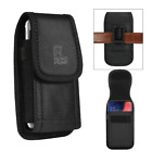 For Iphone 11 Pro Max Rugged Nylon Pouch W/ Belt Loops Clip - Black