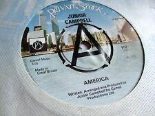 JUNIOR CAMPBELL  AMERICA c/w RADIO MAN 1978 PRIVATE STOCK LABEL  DEMO   AWESOME
