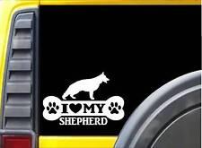 German Shepherd Bone L005 8 Inch sticker Schutzhund training decal