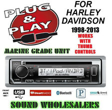 PLUG AND PLAY FOR HARLEY MARINE KENWOOD CD BLUETOOTH RADIO STEREO ADAPTER KIT