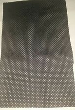 BLACK PERFORATED GENUINE ITALIAN LEATHER OFFCUTS FURNITURE CLOTHING &CAR REPAIRS