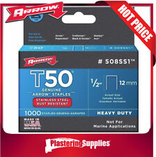 Arrow Fastener Co. .50in. T50 Stainless Steel Staples 508ss1