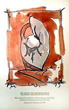 CLAES OLDENBURG - Baseball Mitt - an original M.I.T poster 1976
