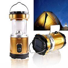 Solar Rechargeable LED Camping Lantern Bright Light Flashlight USB Power Bank LW