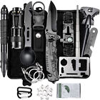 Outdoor emergency survival kit, camping equipment, flashlight, camping knife