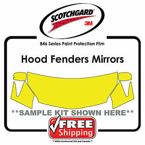 Kits For Audi - 3M 846 Scotchgard Clear Paint Protection Film - Hood Fender Tip