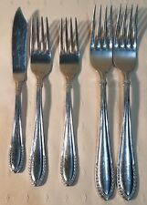 Set Of 5 Oneida Stainless Steel WHEAT Butter Knife & Forks China (DC)