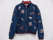 vtg Alabama Denim Jacket Crimson Tide all over patches Fan coat RARE M/L 90s UA
