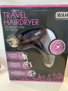 Wahl Professional FOLDABLE COMPACT TRAVEL Hair Dryer Dual Voltage Worldwide Use