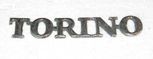 "Ford TORINO 4"" Wide Car Emblem with 2 Intact Posts - In Good Shape - Classic Car"