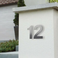 95mm '3D' HOUSE NUMBERS 304 BRUSHED STAINLESS - Letterbox, Wall, Door Mount