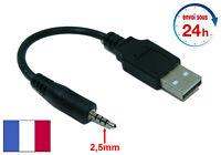 Câble Transfert charge prise USB mâle - Micro Jack 2,5mm Mâle Audio Stéréo NEUF