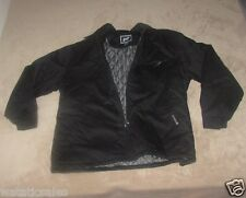 Men's Winter Coat Full Zipper Black Work Jacket PF New with Tags Medium