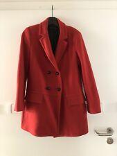50er Hepburn Winterjacke Wintermantel Jacke Mantel Rot Größe 38 M