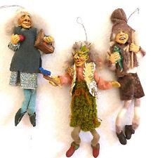 Sculptured FUN Handmade Troll Doll Xmas Ornaments Nyform Norwegian clothed toys