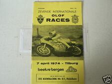 1974 INTERNATIONALE OLOF RACES CIRCUIT BEEKSE BERGEN TILBURG 7 APRIL WIL HARTOG