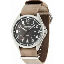 Timberland TBLGS14829JS02AS Men's Brown Leather Band With Black Dial Watch NWT